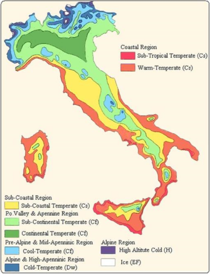 Italia Climatica Cartina.Czesc P Wspolczuc Sylwetka Carta Fasce Climatiche Di Koppen Andy Oblicz Rozwijac Sie
